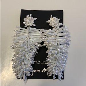 Mignonne Gavigan White Statement Earrings